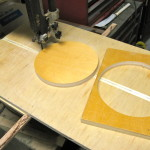 Bandsaw circle cutting