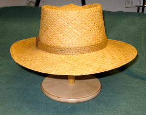 Straw Hat on Stand