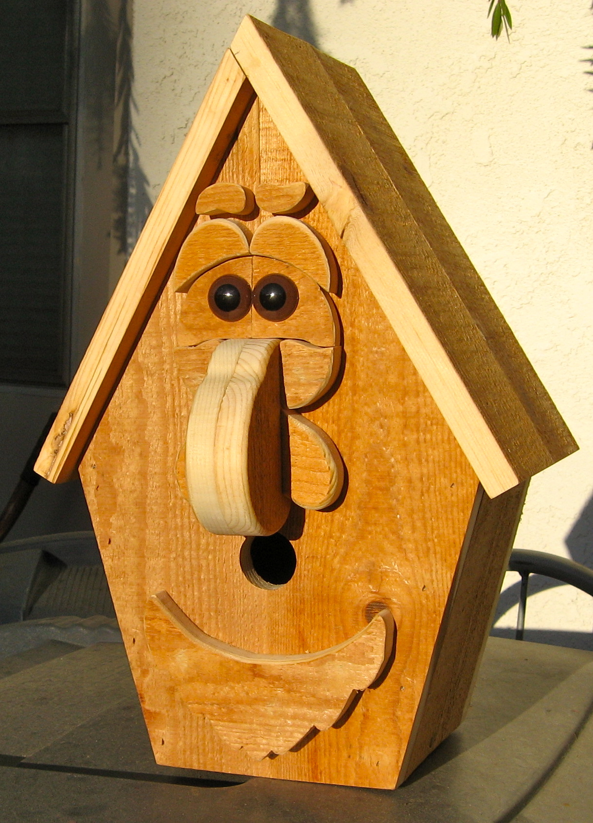 building funny birdhouse   made by alan