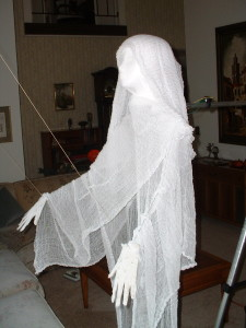 Cheese cloth ghost close