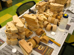 Piles of Wood Cars