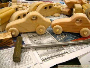 Wooden Toy Sports Cars