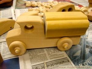 Wooden tanker truck