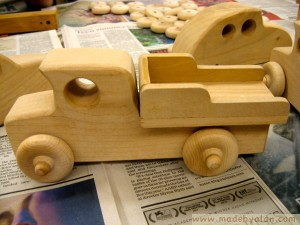 Wood Pickup Truck Toy
