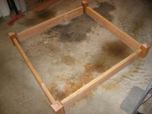 Square foot garden frame cut