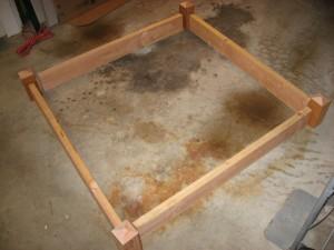 Square foot garden frame cut