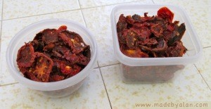 Finished dried tomatoes